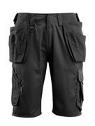16049-230-09 Pantalones cortos con bolsillos tipo funda - negro