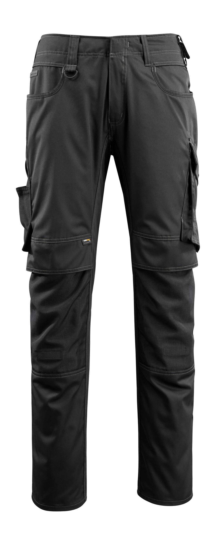 16079-230-09 Pantalones con bolsillos para rodilleras - negro
