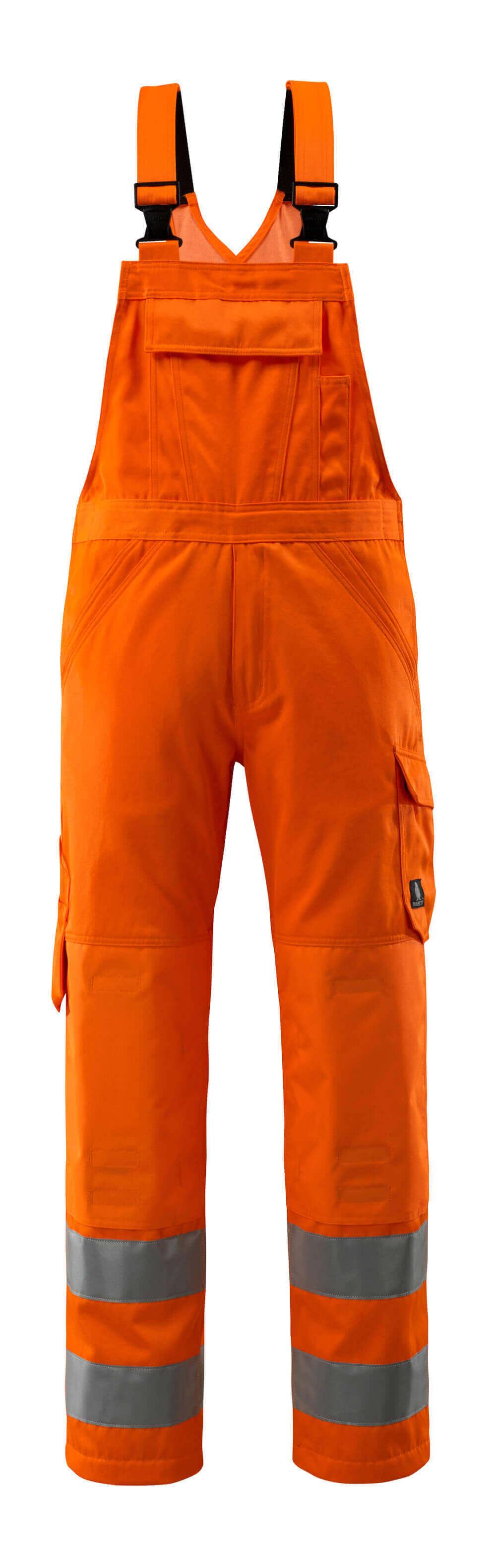 16869-860-14 Peto con bolsillos para rodilleras - naranja de alta vis.