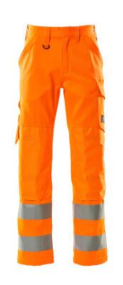 16879-860-14 Pantalones con bolsillos para rodilleras - naranja de alta vis.