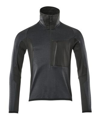 17003-316-01009 Jersey polar con media cremallera - azul marino oscuro/negro