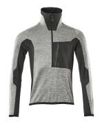 17003-316-0809 Jersey polar con media cremallera - gris-moteado/negro
