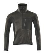 17003-316-1809 Jersey polar con media cremallera - antracita oscuro/negro
