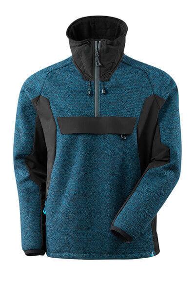 17005-309-01009 Chaqueta de punto con media cremallera - azul marino oscuro/negro