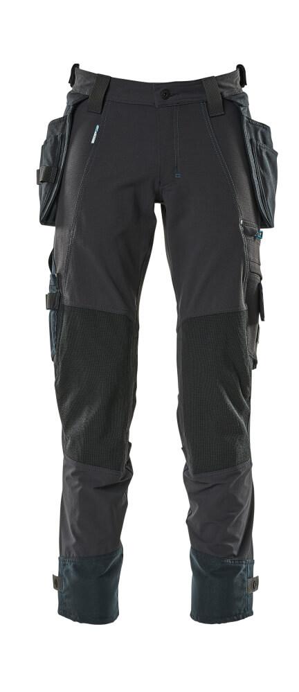17031-311-010 Pantalones con bolsillos tipo funda - azul marino oscuro