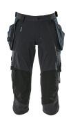 17049-311-09 Pantalones con longitud de ¾ con bolsillos para rodilleras y bolsillos tipo funda - negro