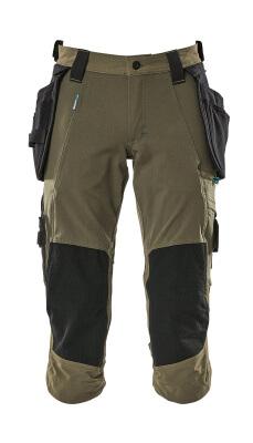 17049-311-010 Pantalones con longitud de ¾ con bolsillos para rodilleras y bolsillos tipo funda - azul marino oscuro