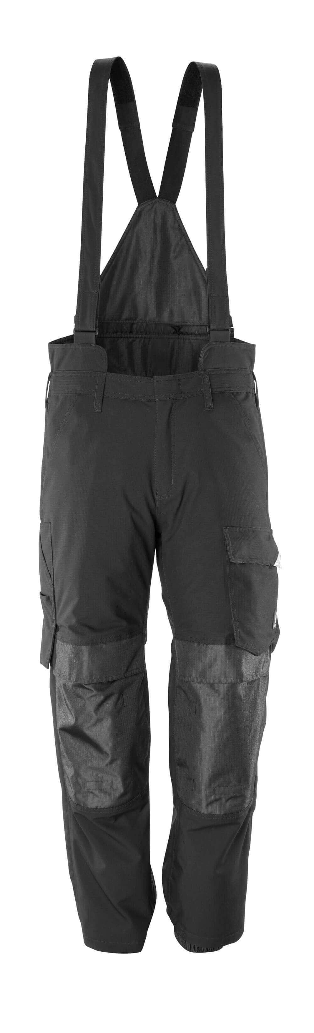 17090-222-09 Cubre pantalón con bolsillos para rodilleras - negro