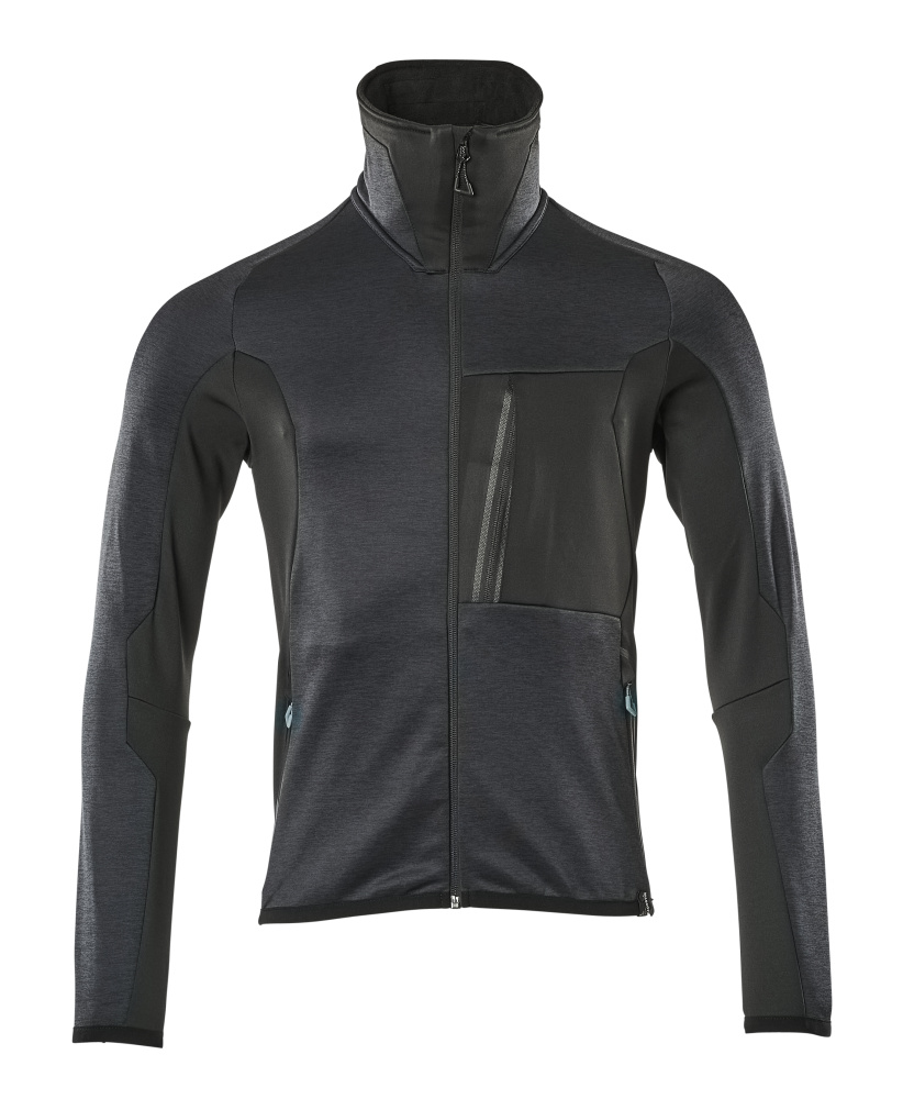17103-316-01009 Jersey polar con cremallera - azul marino oscuro/negro
