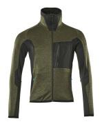 17103-316-3309 Jersey polar con cremallera - verde musgo/negro