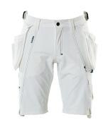 17149-311-06 Pantalones cortos con bolsillos tipo funda - blanco