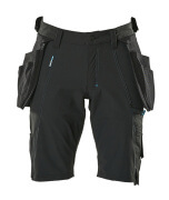 17149-311-09 Pantalones cortos con bolsillos tipo funda - negro