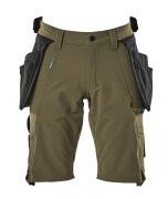 17149-311-33 Pantalones cortos con bolsillos tipo funda - verde musgo