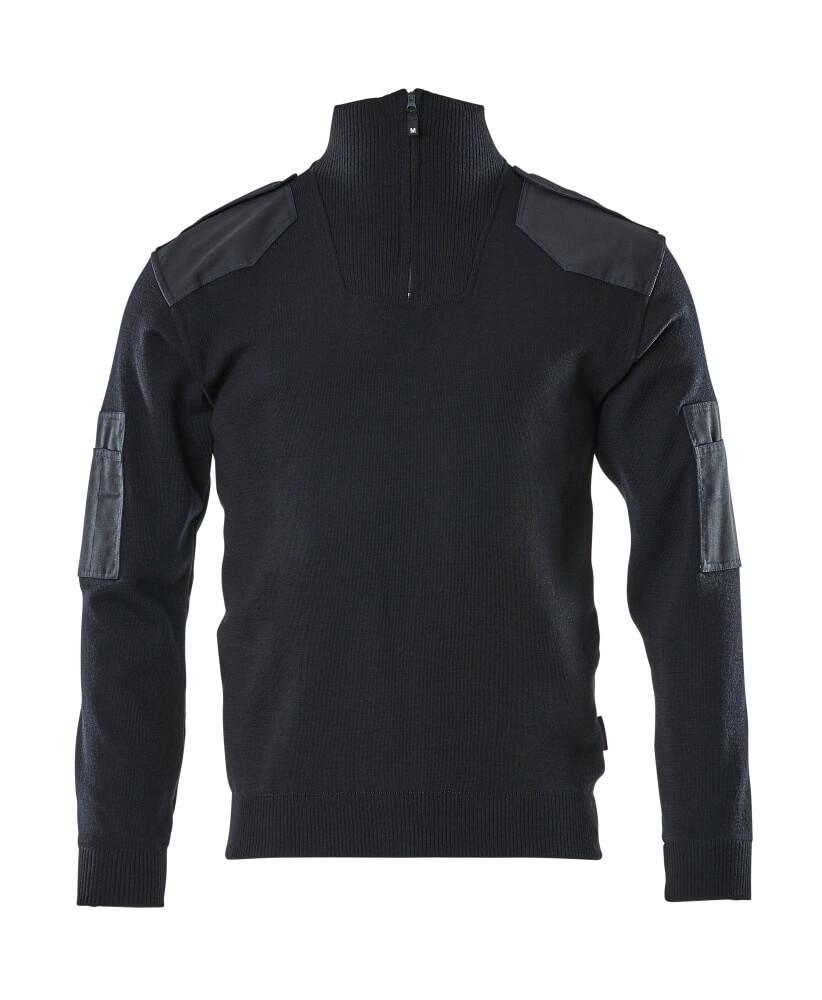 17205-939-010 Jersey de punto con media cremallera - azul marino oscuro