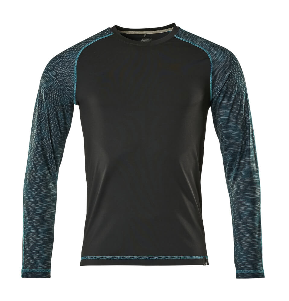 17281-944-09 Camiseta, manga larga - negro