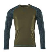 17281-944-33 Camiseta, manga larga - verde musgo