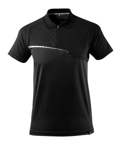 17283-945-09 Polo con bolsillo en el pecho - negro