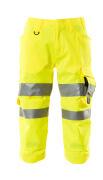 17549-860-17 Pantalones con longitud de ¾ con bolsillos para rodilleras - amarillo de alta vis.