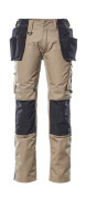 17631-442-5509 Pantalones con bolsillos tipo funda - caqui claro/negro