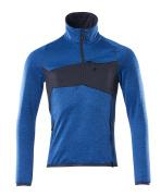18003-316-91010 Jersey polar con media cremallera - azul celeste/azul marino oscuro
