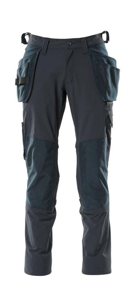 18031-311-010 Pantalones con bolsillos para rodilleras y bolsillos tipo funda - azul marino oscuro