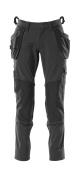 18031-311-09 Pantalones con bolsillos para rodilleras y bolsillos tipo funda - negro