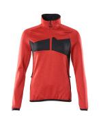 18053-316-20209 Jersey polar con media cremallera - rojo tráfico/negro