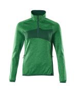 18053-316-33303 Jersey polar con media cremallera - verde hierba/verde