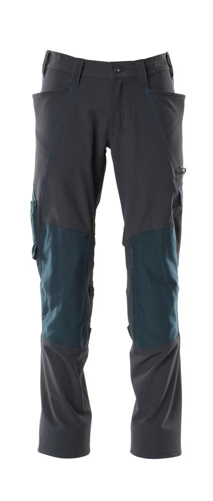 18079-511-010 Pantalones con bolsillos para rodilleras - azul marino oscuro