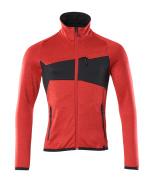18103-316-20209 Jersey polar con cremallera - rojo tráfico/negro