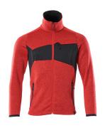 18105-951-20209 Jersey de punto con cremallera - rojo tráfico/negro