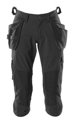 18249-311-010 Pantalones con longitud de ¾ con bolsillos para rodilleras y bolsillos tipo funda - azul marino oscuro
