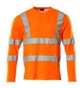 18281-995-14 Camiseta, manga larga - naranja de alta vis.