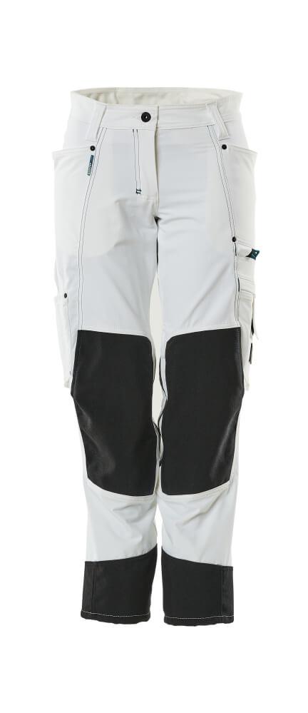 18378-311-06 Pantalones con bolsillos para rodilleras - blanco