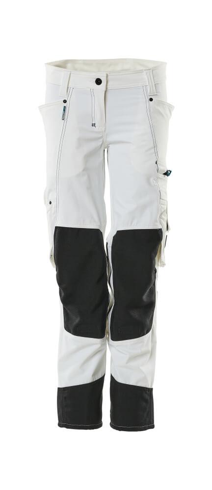 18388-311-06 Pantalones con bolsillos para rodilleras - blanco