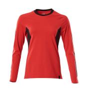 18391-959-20209 Camiseta, manga larga - rojo tráfico/negro