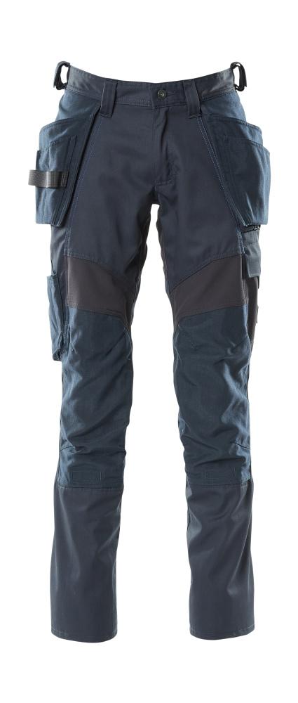 18531-442-010 Pantalones con bolsillos para rodilleras y bolsillos tipo funda - azul marino oscuro