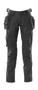 18531-442-09 Pantalones con bolsillos para rodilleras y bolsillos tipo funda - negro