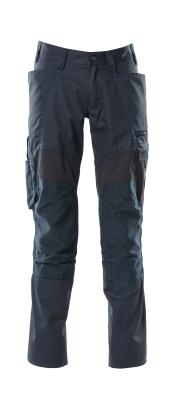18579-442-010 Pantalones con bolsillos para rodilleras - azul marino oscuro