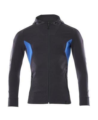 18584-962-01091 Sudadera con capucha con cremallera - azul marino oscuro/azul celeste