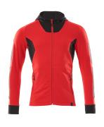 18584-962-20209 Sudadera con capucha con cremallera - rojo tráfico/negro