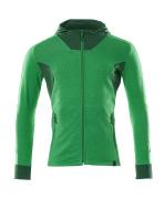 18584-962-33303 Sudadera con capucha con cremallera - verde hierba/verde