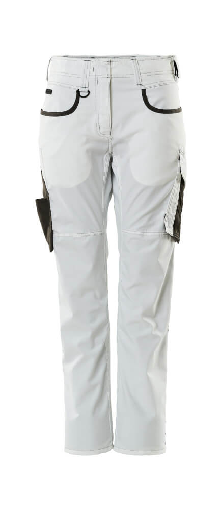 18678-230-0618 Pantalones - blanco/antracita oscuro