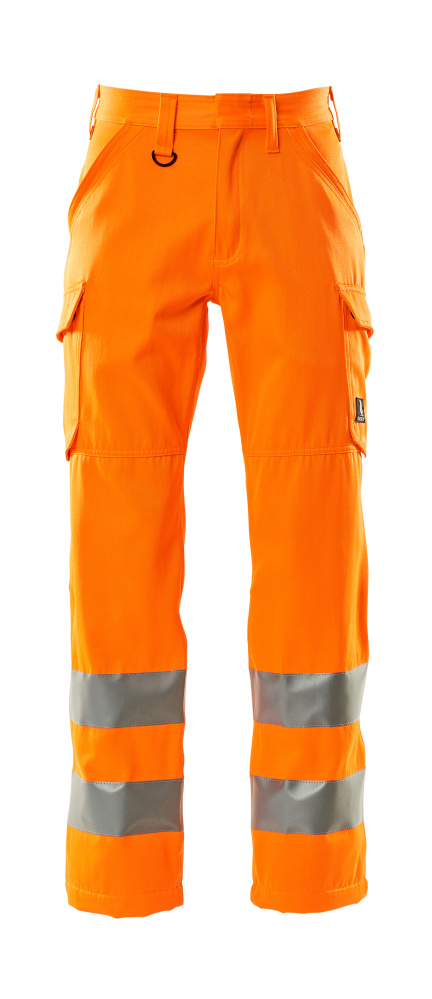 18879-860-14 Pantalones con bolsillos de muslo - naranja de alta vis.
