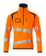 19005-351-14010 Jersey de punto con media cremallera - naranja de alta vis./azul marino oscuro
