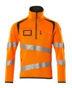 19005-351-1418 Jersey de punto con media cremallera - naranja de alta vis./antracita oscuro