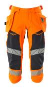 19049-711-14010 Pantalones ¾, bolsillos tipo funda - naranja de alta vis./azul marino oscuro