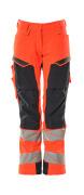 19078-511-14010 Pantalones con bolsillos para rodilleras - naranja de alta vis./azul marino oscuro