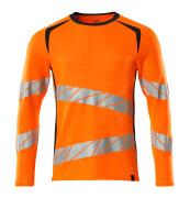 19081-771-14010 Camiseta, manga larga - naranja de alta vis./azul marino oscuro