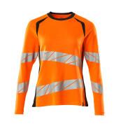 19091-771-14010 Camiseta, manga larga - naranja de alta vis./azul marino oscuro